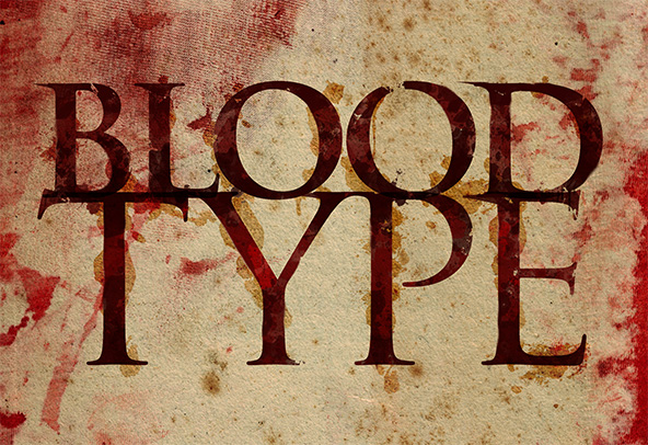 Blood Type Photoshop Tutorial Progression