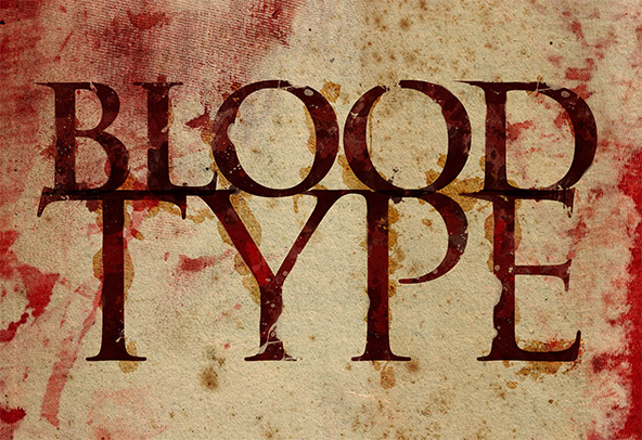 Blood Type Photoshop Tutorial Finished Piece