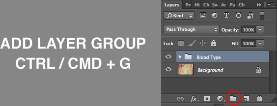 Blood Type Photoshop Tutorial Layer Group