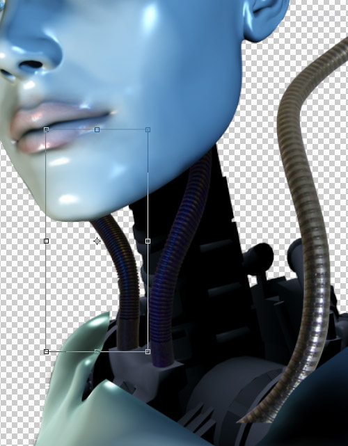 Create a cyborg with photoshop - Step :combine photos with photoshop manipulation cbs16 Create a Cyborg With Photoshop