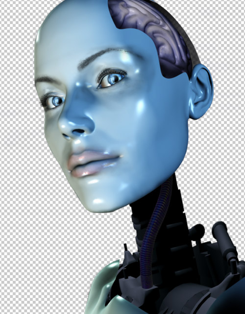 Create a cyborg with photoshop - Step :creating the neck for a cyborg cbs15 Create a Cyborg With Photoshop