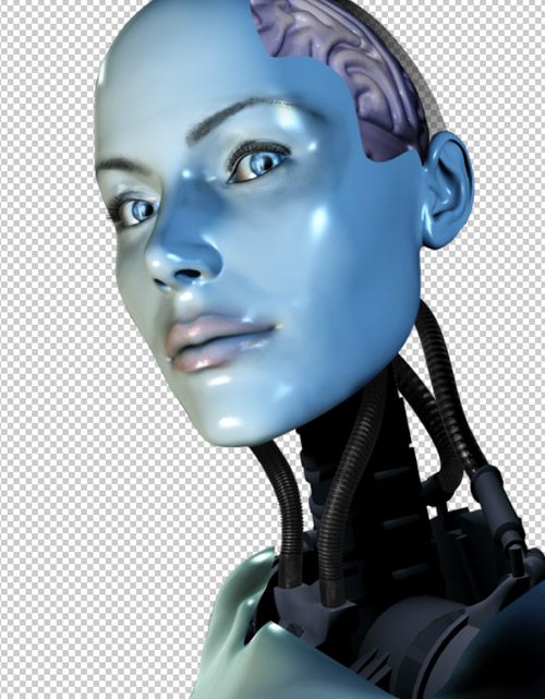 Create a cyborg with photoshop - Step :darken cables in photoshop cbs16p2 Create a Cyborg With Photoshop