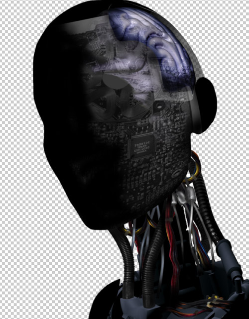 Create a cyborg with photoshop - Step :digital skin for the cyborg cgp20 Create a Cyborg With Photoshop