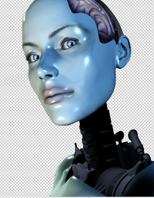 Create a cyborg with photoshop - Step :putting the inner body in the chest cbs14p1 Create a Cyborg With Photoshop