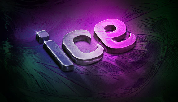 Create a Slick 3D Ice Text Effect with photoshop - 3D Ice Final