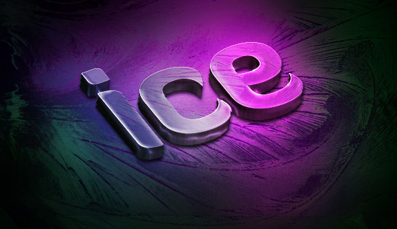 Create a Slick 3D Ice Text Effect with photoshop - Color Adjusted