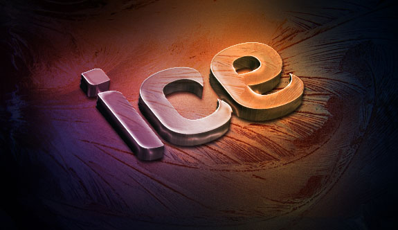 Create a Slick 3D Ice Text Effect with photoshop - Gradient Overlay