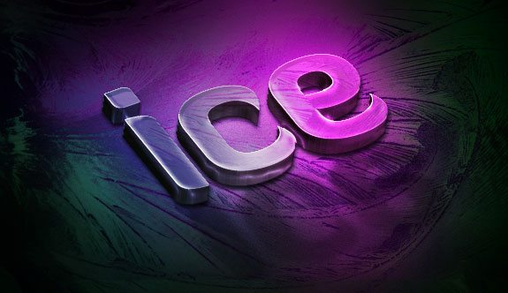 Create a Slick 3D Ice Text Effect with photoshop - Ice Reflection