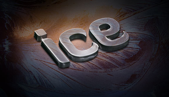 Create a Slick 3D Ice Text Effect with photoshop - Ice Text Textured