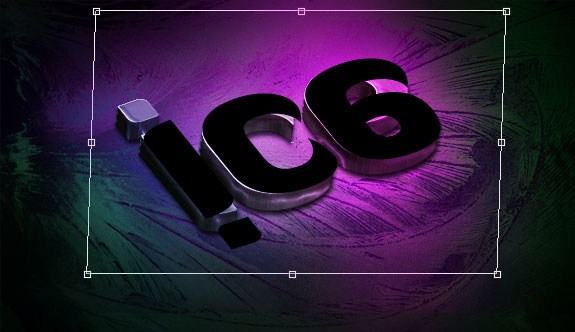 Create a Slick 3D Ice Text Effect with photoshop - Transform Skew