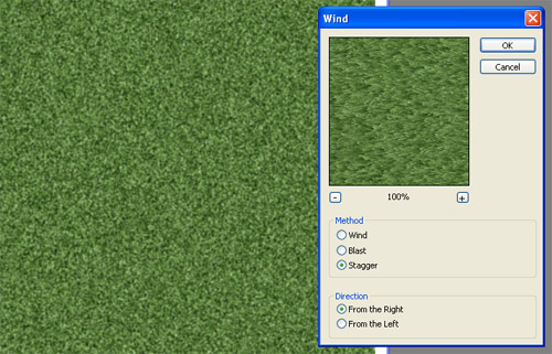 Create an Awesome Grass Texture in Photoshop - Wind Filter for Grass Layer