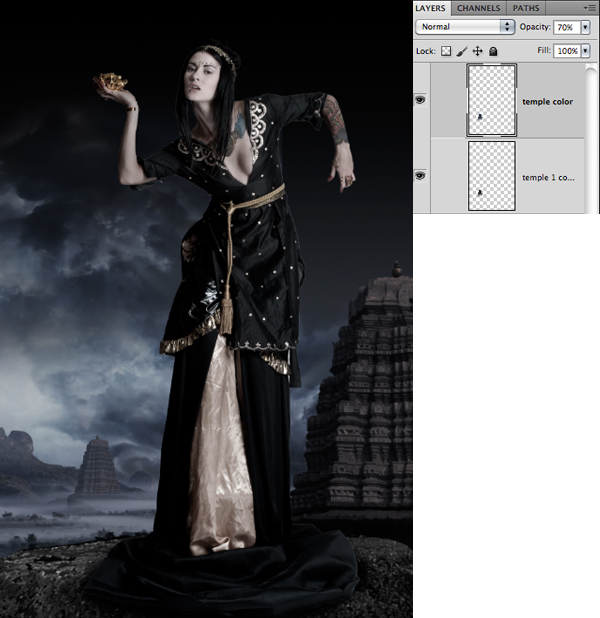 Fantasy Photo Manipulation Tutorial: Step 10.2