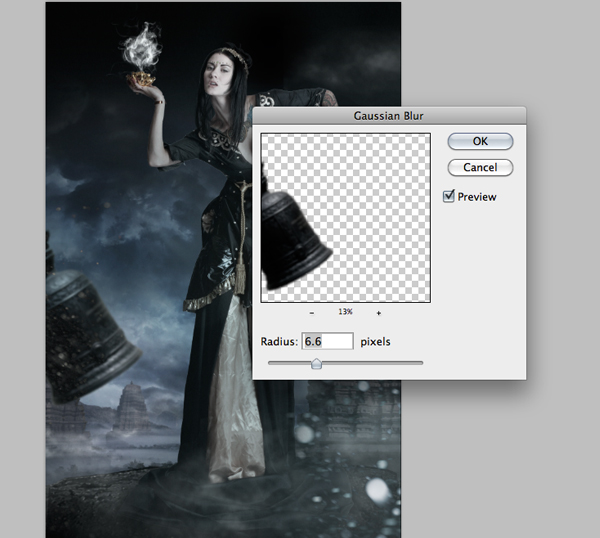 Fantasy Photo Manipulation Tutorial: Step 23.4