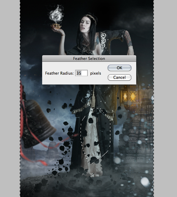 Fantasy Photo Manipulation Tutorial: Step 26.3