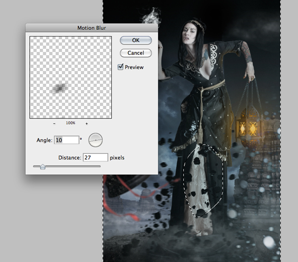 Fantasy Photo Manipulation Tutorial: Step 26.4