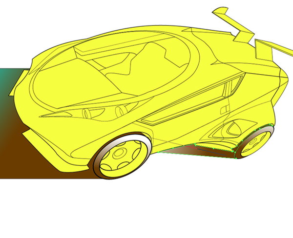Draw a concept car in Illustrator