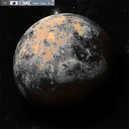 Tutorials photoshop, How to create a realistic planet with adobe photoshop