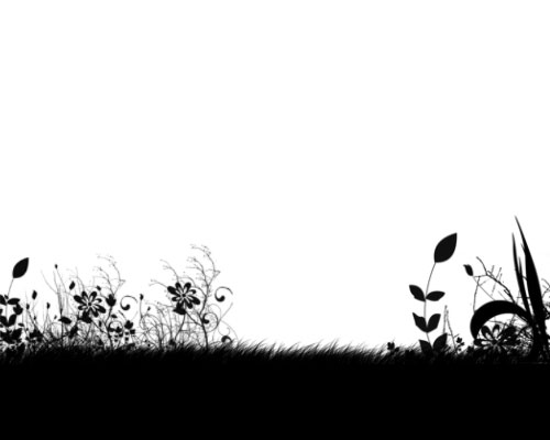 Use brushes and gradients to create a stylish composition - Step :brushed on grass and flowers s2 Use brushes and gradients to create a stylish composition